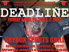 "American Wrestling Alliance presents ""DEADLINE"""