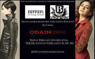 Ferrari and Boss Models New York Fashion Week Event fea...