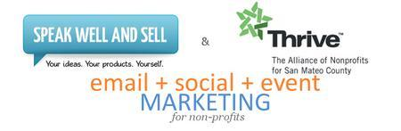Email+Social+Event Marketing for Nonprofits