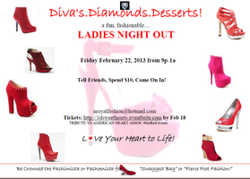 Diva's.Diamonds.Desserts! Ladies Night Out!