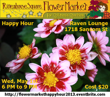 Rittenhouse Square Flower Market Happy Hour