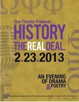 """Que Theater - History """"The Real Deal"""""""