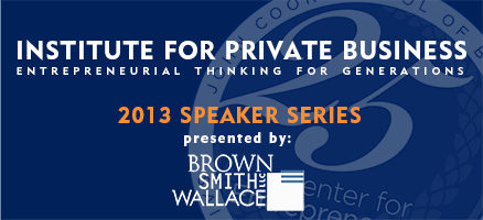 SLU's Institute for Private Business - Spring Speaker...
