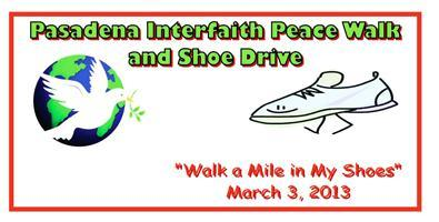 Pasadena Interfaith Peace Walk and Shoe Drive