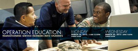 OPERATION EDUCATION: Transitioning Service Members...