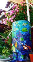 Collinwood Painted Rain Barrel Auction