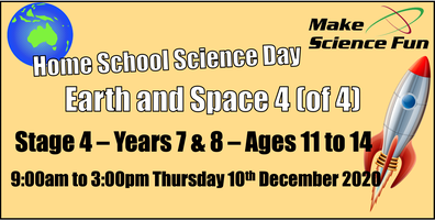 Homeschool Science Day -Stage 4 - Years 7/8 - Ages...
