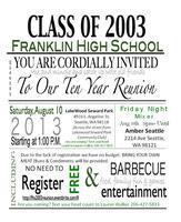 Franklin High School c/o 2003 10 Year Reunion