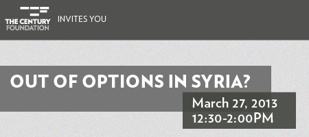 Out of Options in Syria?