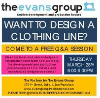 Design your own Clothing line Q&A