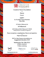 Creative Visions Foundation & Peroni present HAPPY The...