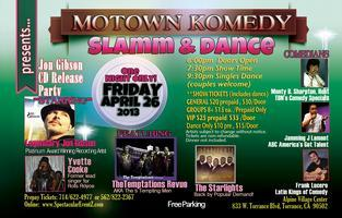 MOTOWN KOMEDY presents JON GIBSON CD RELEASE PARTY