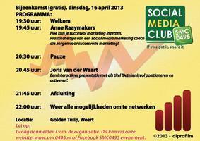 Social Media Club 0495 avond - 16 april 2013