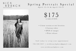 Spring Portrait Special