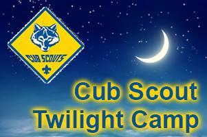 Cub Scout Twilight Camp at Camp Brorein