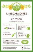 NIPONY 13-Bedar Soirée at Crimson Sat 4/6 with DJ Taba...