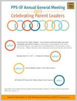 PPS-SF Annual Meeting: Celebrating Parent Leaders