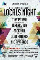 4/13 WCS Events pres. Locals Night!  TONY POWELL,...