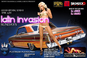 THE OFFICIAL LATIN INVASION PARTY AT PLATINUM PLEASURES...