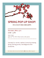 Cherry Blossom Pop-Up Shop