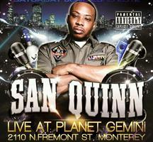 FRIDAY, APRIL 19th:  LIVE ON STAGE SAN QUINN
