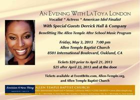 LaToya London in Concert - A Benefit for The Allen...