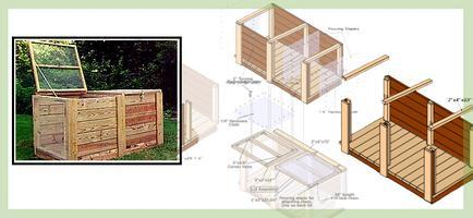 Back Yard Compost Bin Building