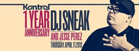 ✦ DJ SNEAK ✦ KONTROL MIAMI ✦ Thursday, APRIL 11th at...
