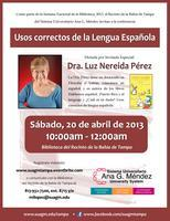 Usos correctos de la Lengua Española/Dra. Luz Nereida...