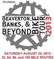 Beaverton Banks and Beyond Bicycle Tour 2013 (BBBBT)