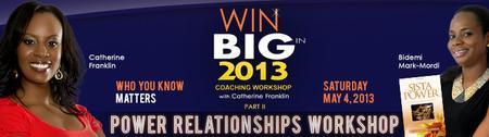 WIN BIG IN 2013 WORKSHOP 2: POWER RELATIONSHIPS