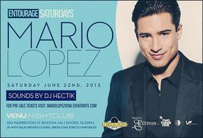 Mario Lopez Hosts Entourage Saturdays