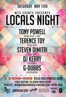 5/11 - WCS Events pres. LOCALS NIGHT w / TONY POWELL,...