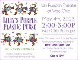 Storytime at Wee Chic with Pumpkin Theatre~Lilly's...