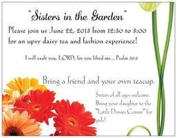 Sister's in the Garden-Tea & Fashion Experience