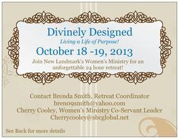 "Divinely Designed- ""Living A Life of Purpose!"""