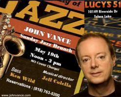 Jazz Brunch with the John Vance Trio - Sunday, May...