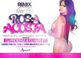 MODEL ROSA ACOSTA BIRTHDAY BASH AT AMNESIA NYC WITH DJ ...