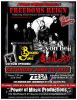 FREEDOMS REIGN special guests: VON HELL, SUNLORD &...