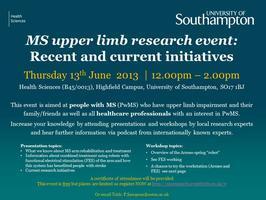 MS Upper Limb Research Event