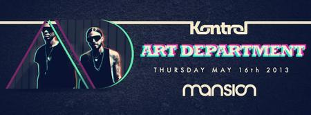 ✦ ART DEPARTMENT ✦ KONTROL MIAMI ✦ Thursday, MAY 16th...