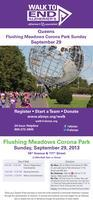 WALK TO END ALZHEIMER'S DISEASE - QUEENS, NY