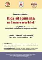 """""""Etica ed Economia: un binomio possibile?"""""""