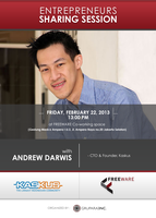 Startups Sharing Session with ANDREW DARWIS (Founder...