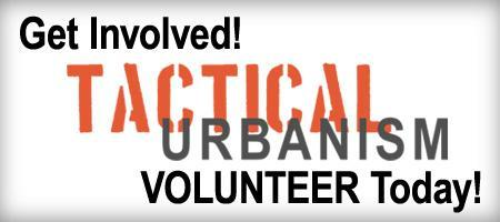 Volunteer for Tactical Urbanism Intervention
