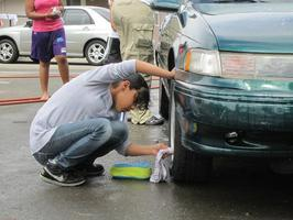 Car Wash and BBQ Fundraiser: Teamwork