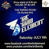 The 3rd Element @ The House of Blues Parish Room