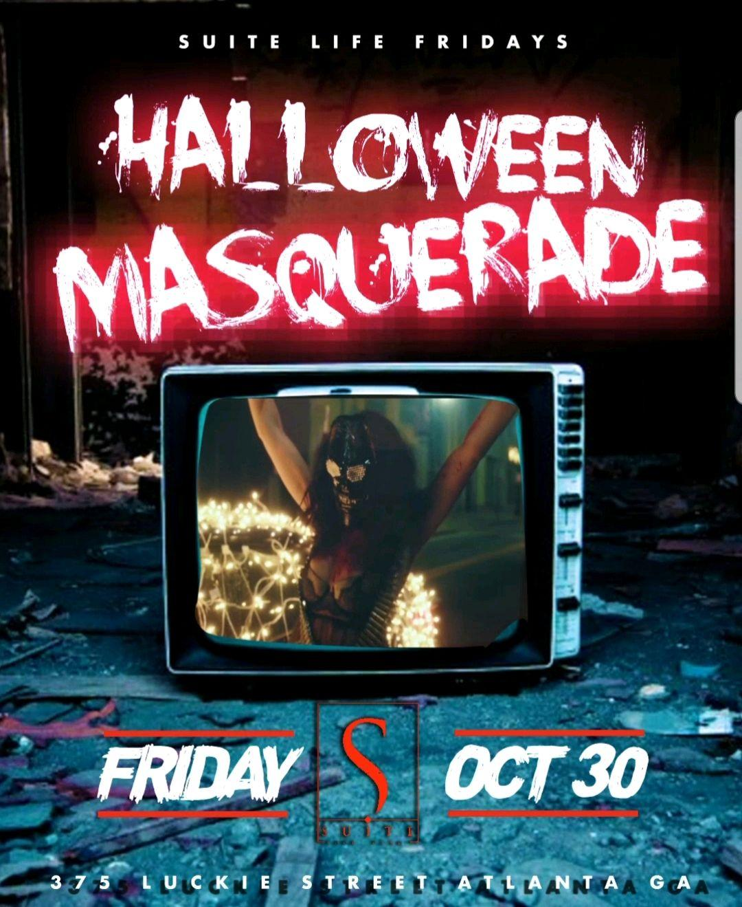 Suite Life Fridays Halloween Masquerade Party At Suite Lounge - RSVP NOW