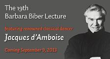 Barbara Biber Lecture