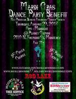 THURSDAY, AUGUST 29th:  MARDI GRAS DANCE PARTY BENEFIT
